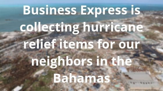 Business Express to Collect Hurricane Relief Items